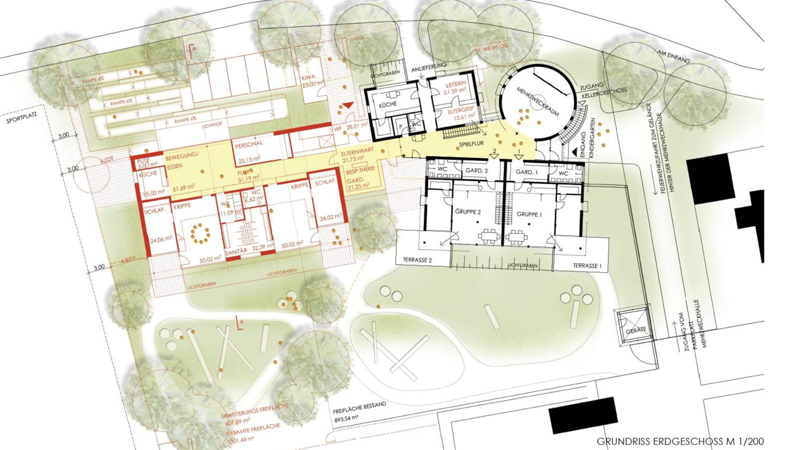 Erweiterung-Kindergarten-Strasslach