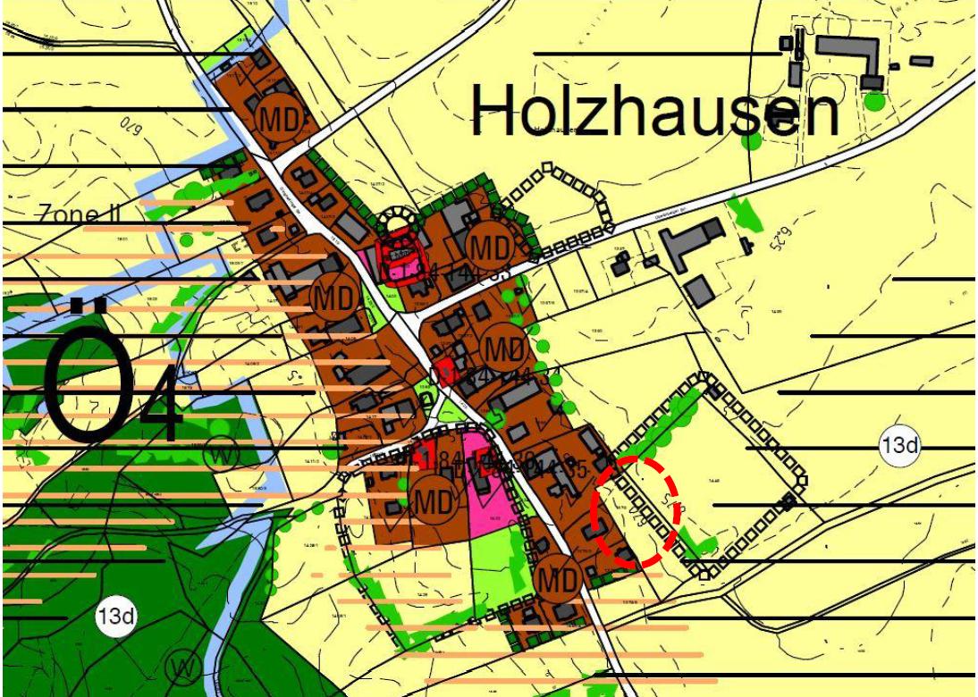 1. Änderung Bebauungsplan Holzhausen