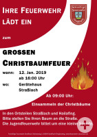 Christbaumfeuer 2019