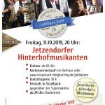 Jetzendorfer Hinterhofmusikanten Plakat