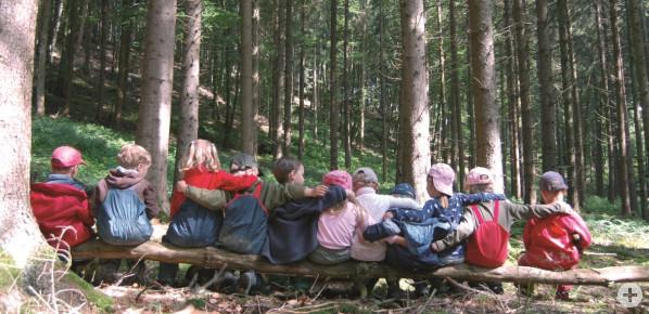 Gruppenbild Waldkindergarten