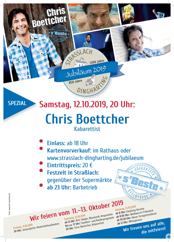 Plakat Chris Boettcher 12.10.2019